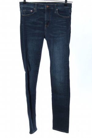 H&M Stretchhose blau Casual-Look