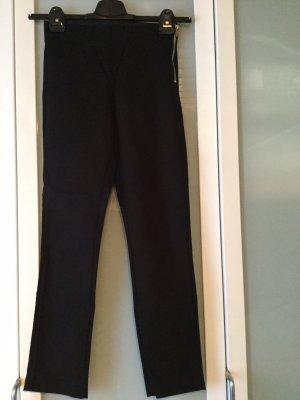 H&M Stretch Trousers black-silver-colored