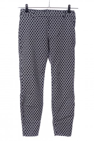 H&M Stretch Trousers black-white allover print casual look