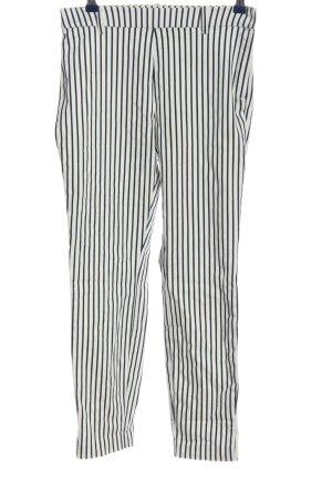 H&M Stretchhose weiß-schwarz Streifenmuster Casual-Look