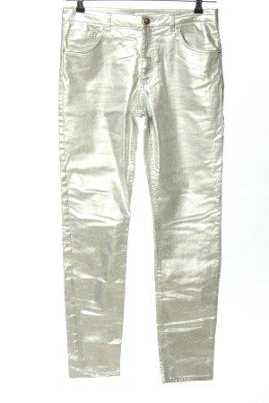H&M Stretchhose silberfarben Casual-Look