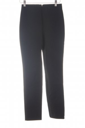 H&M Stretch Trousers black striped pattern business style
