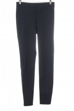 H&M Stretch Trousers black-light grey striped pattern business style