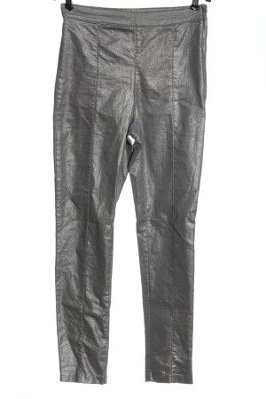 H&M Stretch broek zilver wetlook