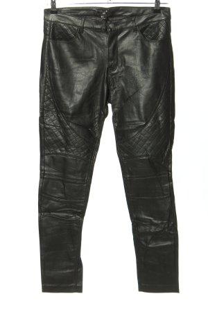H&M Stretchhose schwarz Steppmuster Casual-Look