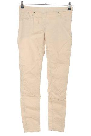 H&M Pantalon strech crème style décontracté
