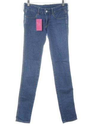 H&M Stretch Trousers dark blue jeans look