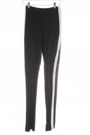 H&M Stretch Trousers black-white striped pattern business style