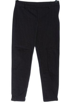 H&M Pantalon strech noir-blanc imprimé allover style décontracté