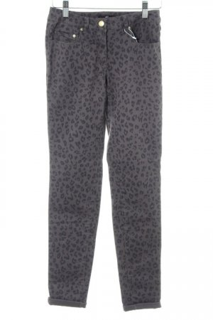 H&M Stretch Trousers taupe-grey brown animal pattern animal print