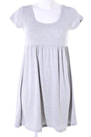 H&M Vestido elástico gris claro moteado look casual