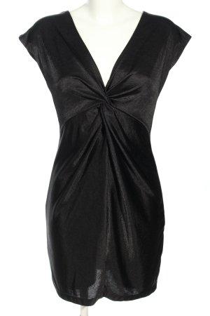 H&M Stretchkleid schwarz meliert Casual-Look