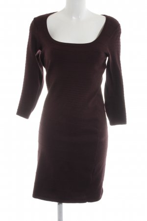 H&M Stretchkleid rot Streifenmuster Business-Look