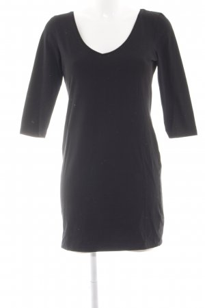 H&M Stretchkleid schwarz Casual-Look