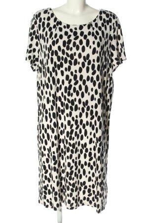 H&M Stretchkleid weiß-schwarz Allover-Druck Casual-Look