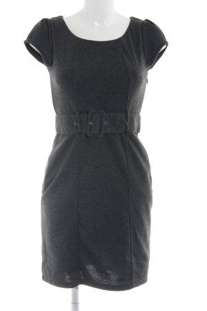 H&M Stretchkleid hellgrau meliert Business-Look