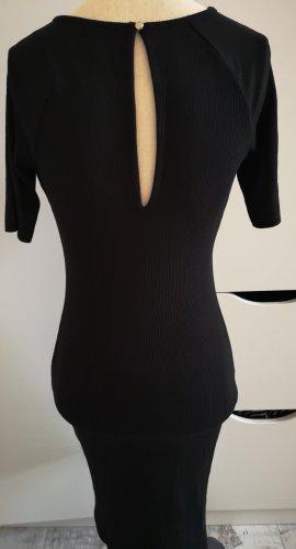 H&M Stretchkleid aus Rippstrick Gr.XS schwarz Neu