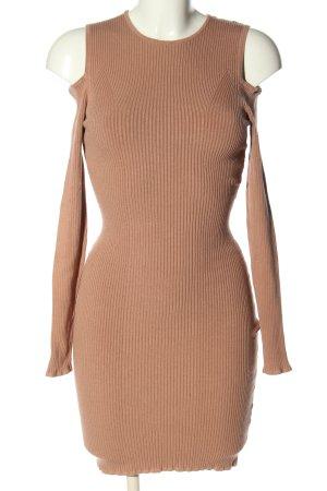 H&M Stretchkleid braun Casual-Look