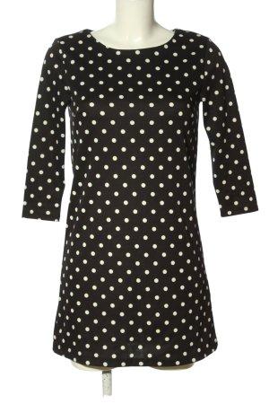 H&M Stretchkleid schwarz-wollweiß Punktemuster Elegant