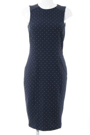 H&M Stretchkleid schwarz-weiß Punktemuster Casual-Look