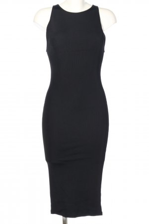 H&M Stretchkleid schwarz Casual-Look
