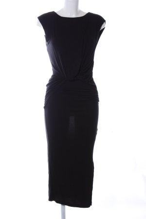 H&M Stretchkleid schwarz Elegant