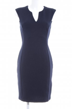 H&M Stretchkleid blau Business-Look