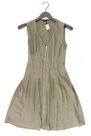 H&M Robe stretch vert olive polyester