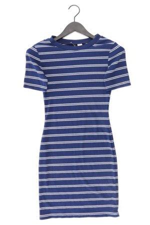 H&M Stretchkleid Größe 36 gestreift Kurzarm blau aus Polyester