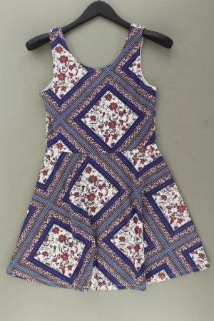 H&M Stretchkleid Größe 38 mit Blumenmuster Träger mehrfarbig aus Polyester