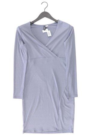 H&M Stretchkleid Größe 42 neu mit Etikett Langarm blau aus Polyester