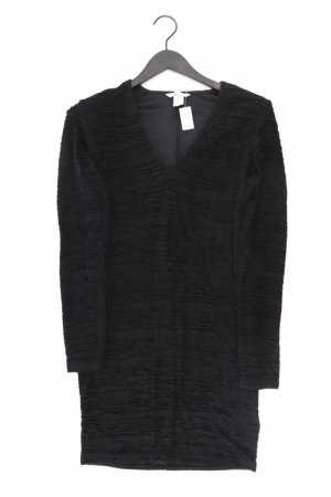 H&M Stretchkleid Größe M Langarm schwarz aus Polyester