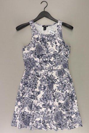 H&M Stretchkleid Größe M mit Blumenmuster Träger weiß aus Polyester