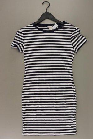 H&M Stretchkleid Größe S gestreift Kurzarm weiß aus Viskose