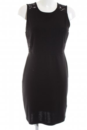 H&M Stretchkleid schwarz Business-Look