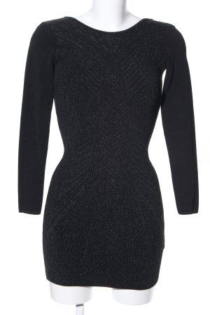 H&M Stretchkleid schwarz-silberfarben Elegant