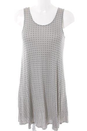 H&M Stretchkleid weiß-schwarz Casual-Look