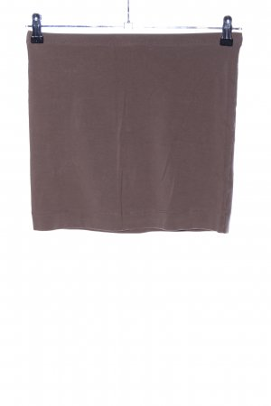 H&M Stretch rok bruin gestippeld casual uitstraling
