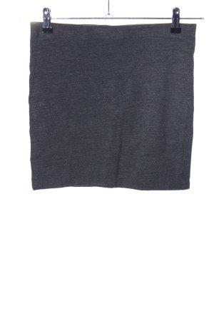 H&M Stretchrock hellgrau meliert Casual-Look