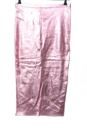 H&M Stretchrock pink Glanz-Optik