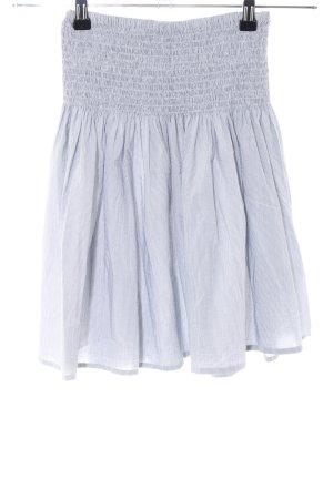 H&M Stretchrock hellgrau-weiß Streifenmuster Casual-Look