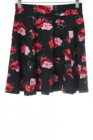 H&M Stretchrock Blumenmuster Casual-Look