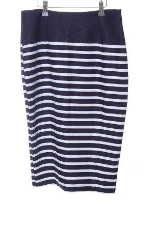 H&M Stretchrock blau-weiß Streifenmuster Casual-Look
