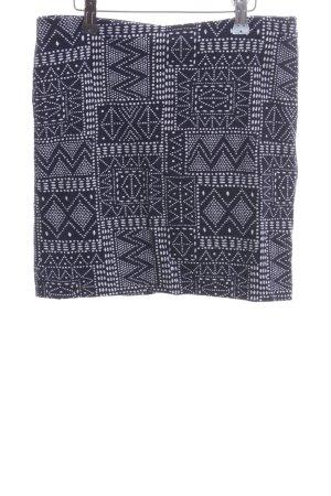 H&M Stretchrock schwarz-weiß Allover-Druck Casual-Look