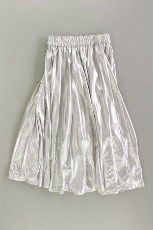H&M Spódnica ze stretchu srebrny Poliester