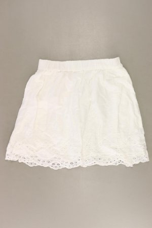 H&M Spódnica ze stretchu w kolorze białej wełny Bawełna