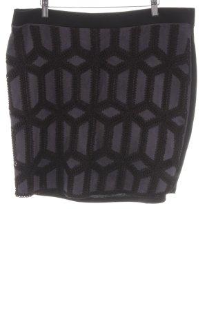 H&M Stretchrock schwarz-dunkelgrau Casual-Look