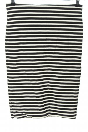 H&M Stretch Skirt white-black allover print casual look