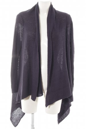 H&M Strick Cardigan lila Casual-Look