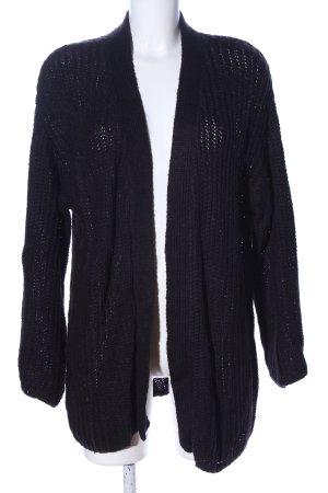 H&M Strick Cardigan schwarz Casual-Look